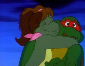 I imagine myself as Mona Lisa, the mutant salamander girl ninja with a propensity towards spontaneous huggings.